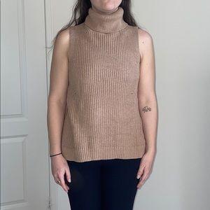 Abercrombie & Fitch Turtleneck Sleeveless Sweater